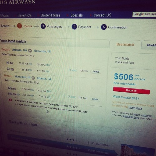 I'm just saying…Atlanta to Honolulu for $506 RT??? :) #atlanta #wishicouldgo (Taken with Instagram)