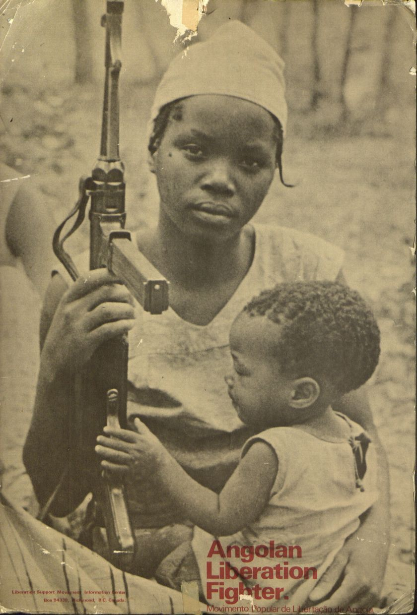 fuldagap:  People's Movement for the Liberation of Angola guerrilla with her child.