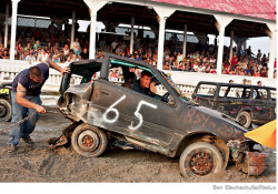 Ben Stechshulte is awesome. Demolition Derby in Essex County - part of an extended documentary project.