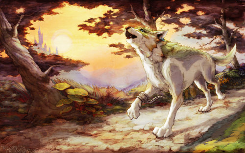 nakiahgene:  Legend of Zelda: Twilight Wolf by *Woodland-Mel