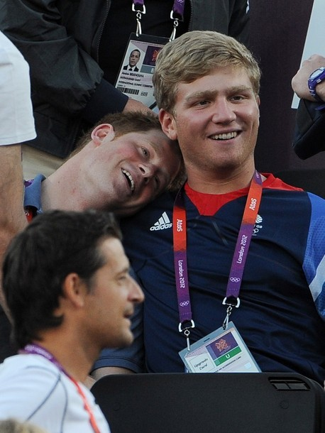 Prince Harry and British rower Constantine Louloudis share a tender moment.  :-)
