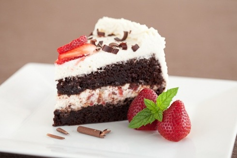 bakeddd:  double chocolate cake with kahlua whipped cream and strawberries click here for recipe