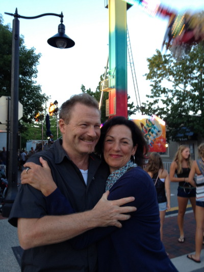 My cousin Julia and husband Erik at the carnival in Grand Haven during Coast Guard Festival.