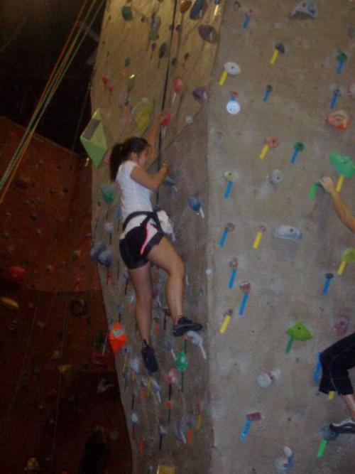 Did some rock climbing two days ago! It was awesome :]