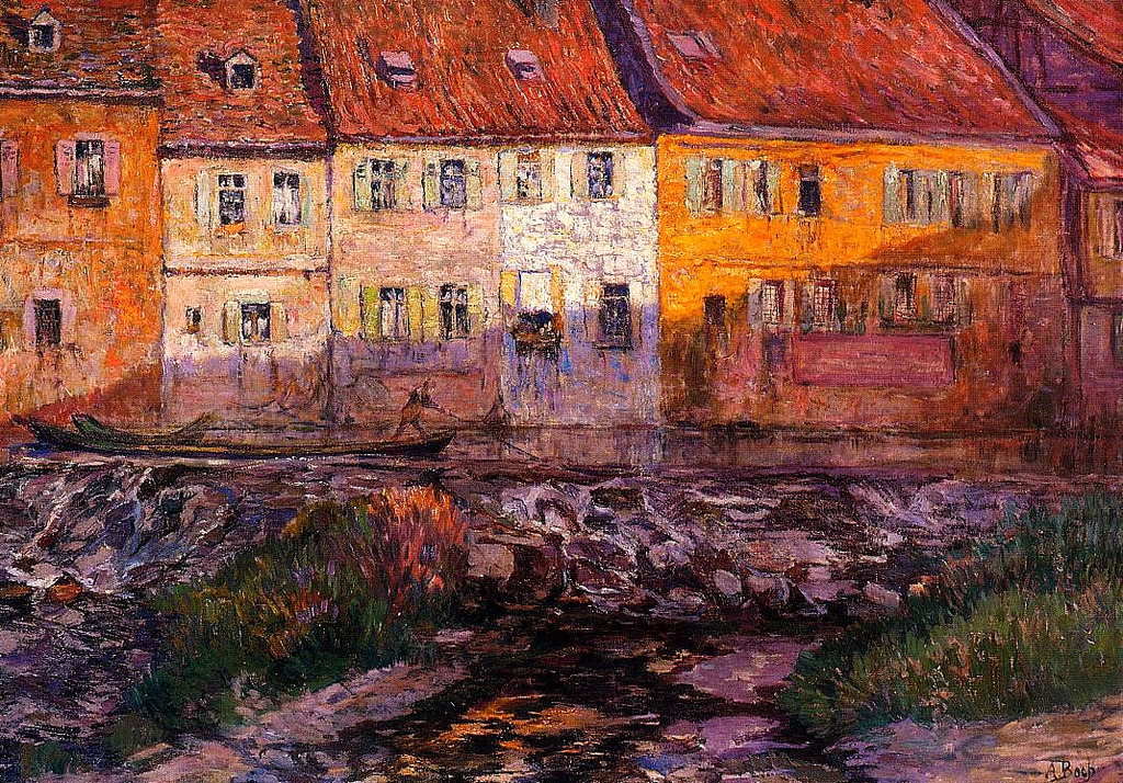 alongtimealone:  Pink and Yellow Houses Anna Boch - circa 1910-1912 (by BoFransson)