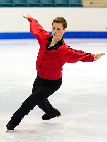 Joel Bond's short program costume at the 2012 Junior Canadian Nationals. Photo by Danielle Earl.