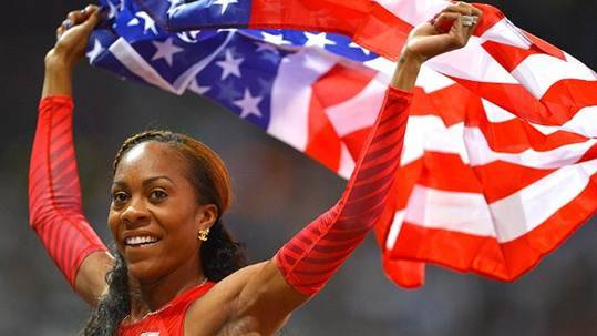 Add this to the list of Very Good Timing: Just days after Sanya Richards-Ross snags the Olympic gold medal in the women's 400-meter race, WE tv announces it has picked up a pilot of a reality show based on her life training for the Olympics and her relationship with NFL-playing husband Aaron Ross and the rest of her family.  Having known a couple of super-athlete couples such as this, the show could capture some very interesting dynamics for the small screen. Does this show grab your interest? Read more here: http://www.deadline.com/2012/08/we-picks-up-reality-pilot-starring-london-olympic-champion-sanya-richards-ross/