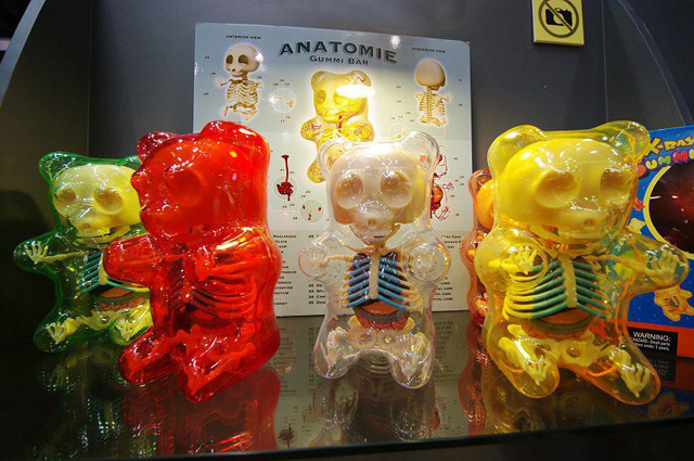 Gummi Bear Anatomy Toys by Jason Freeny