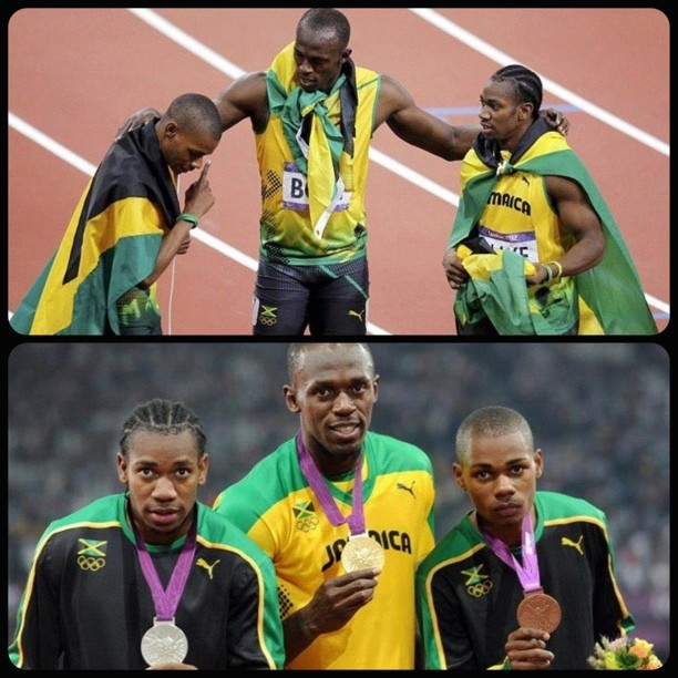 #nuffsaid #3kings of #jamaica #bolt #blake #weir #2012olympics #olympics #123  (Taken with Instagram)