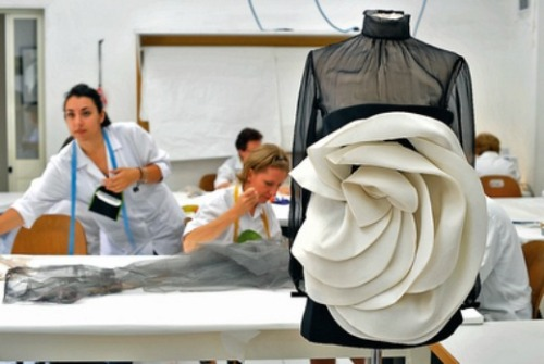 Inside the atelier for Valentino haute couture f/w 2010
