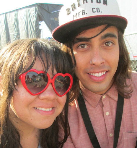 Me and Vic Fuentes. Vans Warped Tour (8.5.12) <3