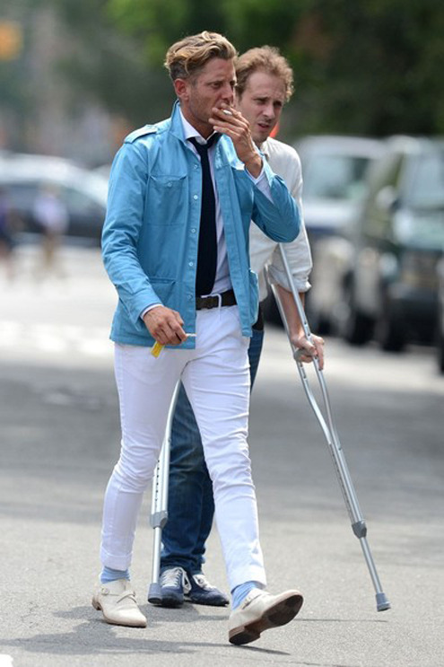 Lapo Elkann is definitely WAY OFF his usual #DaretobeDashing Dapper game but the shoes are INSANE!