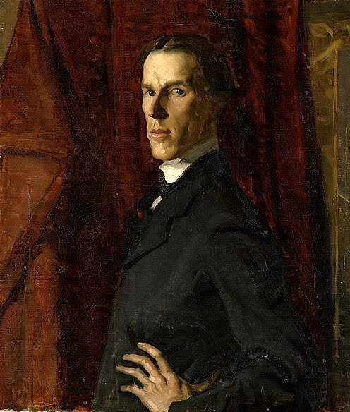 Hugh Ramsay (Australian, 1877 - 1906), self-portrait, 1902 Ramsay attended the National Gallery of Victoria at age 16 and became one of the most brilliant students ever trained there. Died age 29.   src