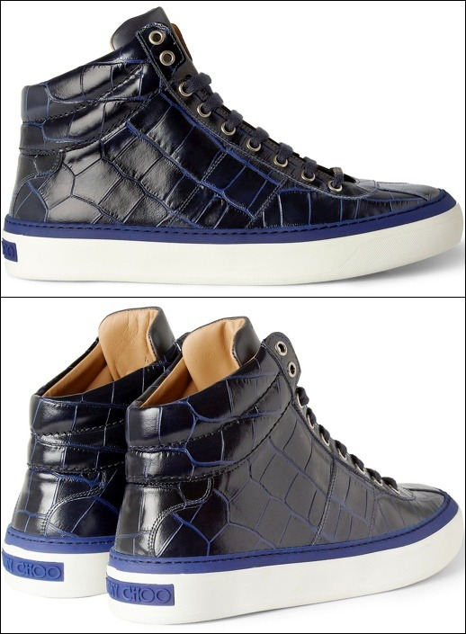 men pay attention.  jimmychoo croc kicks