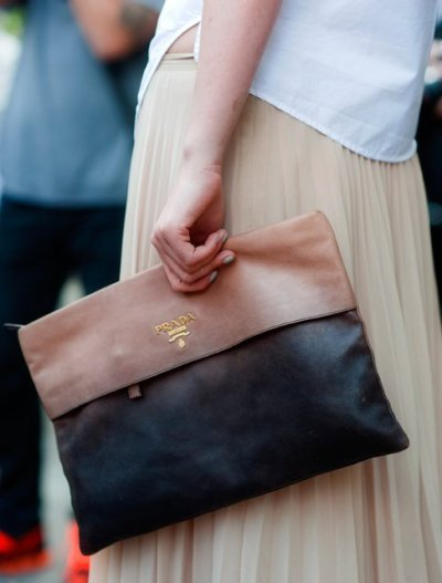Two-Tone Prada Clutch