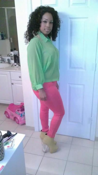 Mint Top From A Local Boutique. Pink Skinnies & Boots Offline
