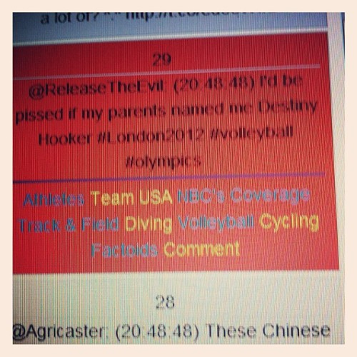 Me too! #nbcolympics @sidecastr funnnnny tweet (Taken with Instagram)
