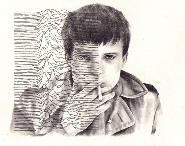 """Ian Curtis"" by Kate Powell"