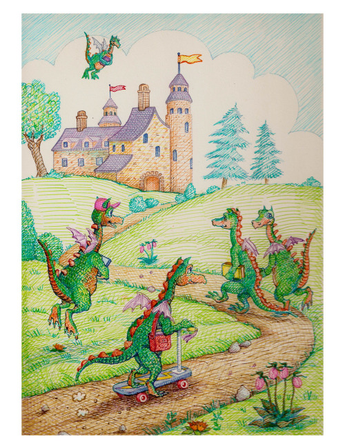 dragons go to school by me, hoddleypoddley