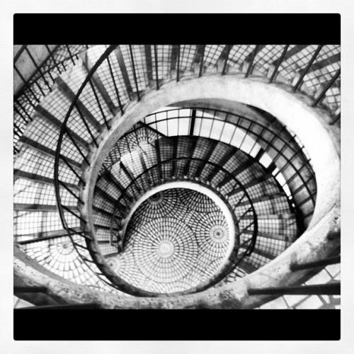 #spiral #staircase #blackandwhite #architecture  (Taken with Instagram)