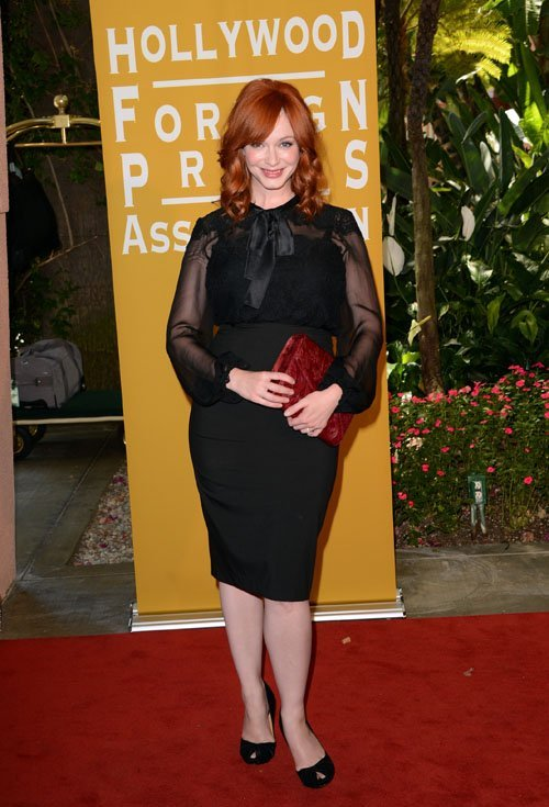 suicideblonde:  Christina Hendricks at the Hollywood Foreign Press Association's Installation Luncheon in Hollywood, August 9th