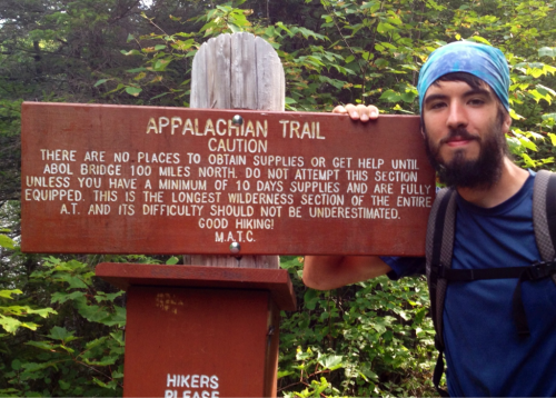 "Day 103 Location:  Chairback Gap Lean-To AT Mile:  2,095.7 Miles Hiked Today:  26  26% of the 100 mile wilderness complete.  Had an all-you-can-eat breakfast this morning at Shaw's hostel then was shuttled back to the trail by 8 am.  3 miles into the wilderness it starts to rain.  Came to a stream ford where I changed into my flip flops to cross.  The hiker on the other side turned out to be ""The Machine"".  I had heard about him recently and he had been hearing about me for months.  He started May 7th.  That's after me and Mercury, who has already summited.  He's on pace to finish the trail the same day as me, his goal, of 100 days even.  We talked and found out we were shooting for the same shelter so we decided to hike together.  I let him lead and found it difficult to keep up on the ascents but I managed.    Big thunderstorm rolled in while we were climbing Barren Mountain.  We were both drenched.  We hiked on in sopping wet clothes and shoes and socks, talking about mutual friends we had made and met at different times along the trail and whether they were still on the trail.    We came to a ledge just before sunset and stopped to snack.  Just then the clouds parted, lakes appeared below us out of nowhere and the sun inched out from behind the clouds and spilled its warm light on us.  It was beautiful.  A moment that a picture just can't justify but will live on in my mind as a vivid memory of Maine.  We sat there in our damp clothes soaking up the glow.    On the way down to the shelter it started to get dark.  Hiked the last 5 minutes by headlamp.  Shelter turned out to be full so I was forced to pitch.  Just then, more rain.  I feel as if I've gotten the worst weather at the most difficult parts of the trail.  Hopefully my tent keeps me dry tonight."
