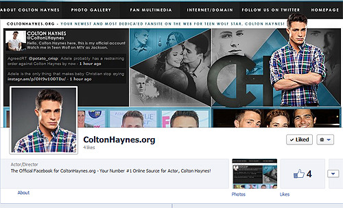 "ColtonHaynes.org visitors! We are now on Facebook! Be sure to ""Like"" us to receive instant updates from the site.. including all the latest News, Photos, Videos + More sent right to your timeline!"
