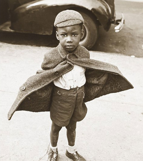 bygoneamericana:  Lower Butterfly Boy. Lower East Side, New York, 1949. By Jerome Leibling  I'm doing my whole life wrong, you guys.