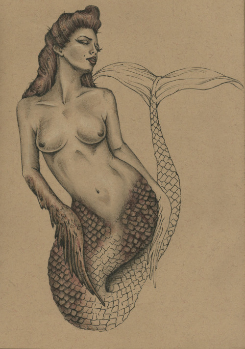 A second mermaid/siren concept sketch… I want to move forward with this project but I haven't decided which mermaid I want to use yet, ha. But I'll keep you all posted.