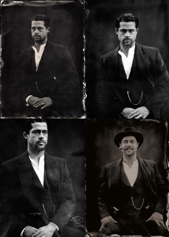 bohemea:  Brad Pitt ambrotype by Stephen Berkman for The Assassination of Jesse James by the Coward Robert Ford