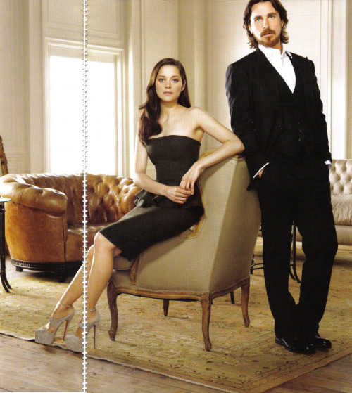 Marion Cotillard and Christian Bale