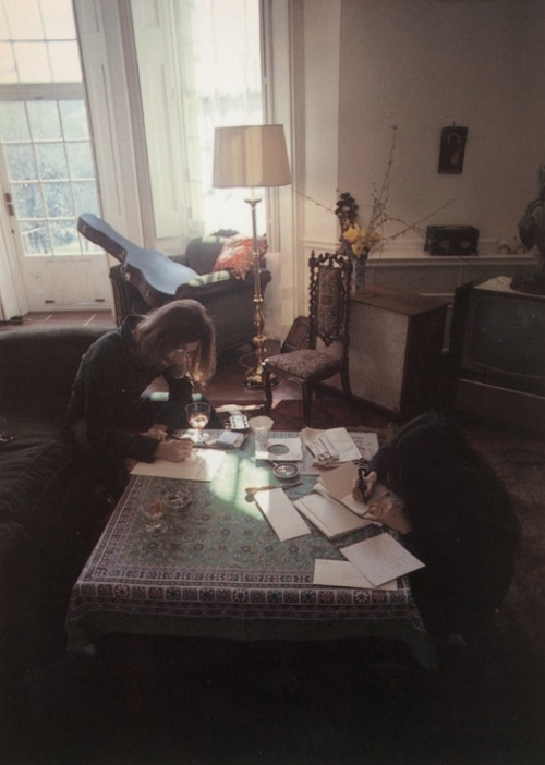 workspaces:  John Lennon & Yoko Ono, London, 1969 | photographed by Linda McCartney