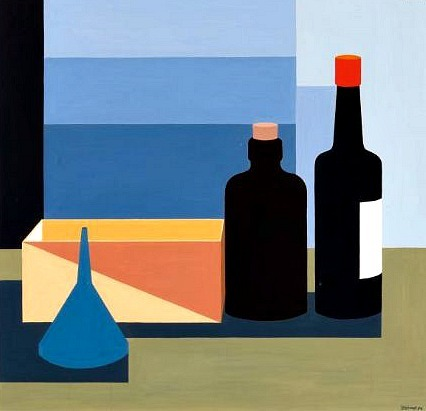 Theo Stiphout Still Life with Bottles 1974