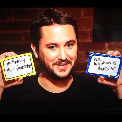 . @Wilw is awesome. No really, he's awesome. #Tabletop @geekandsundry  (Taken with Instagram)