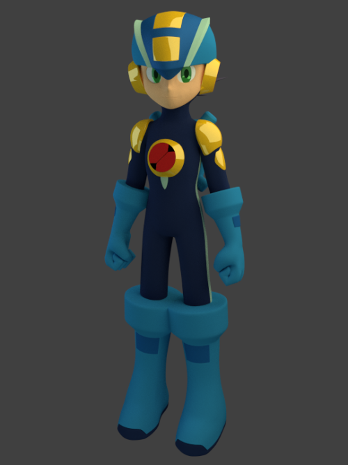 psmegaman25th:  He has limited movement now, meaning he'll deform with a rig. It'll take me another day to make the rig usable for animating of any kind.