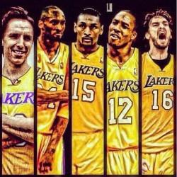 We're taking it this year! #Kobe #Nash #Howard #Gasol#MettaWorldPiece #Lakers #LA #WereTakingTheShip (Taken with Instagram)