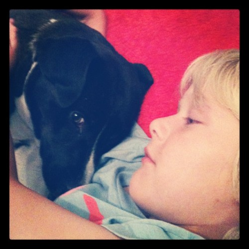 My boy and his dog. <3 (Taken with Instagram)
