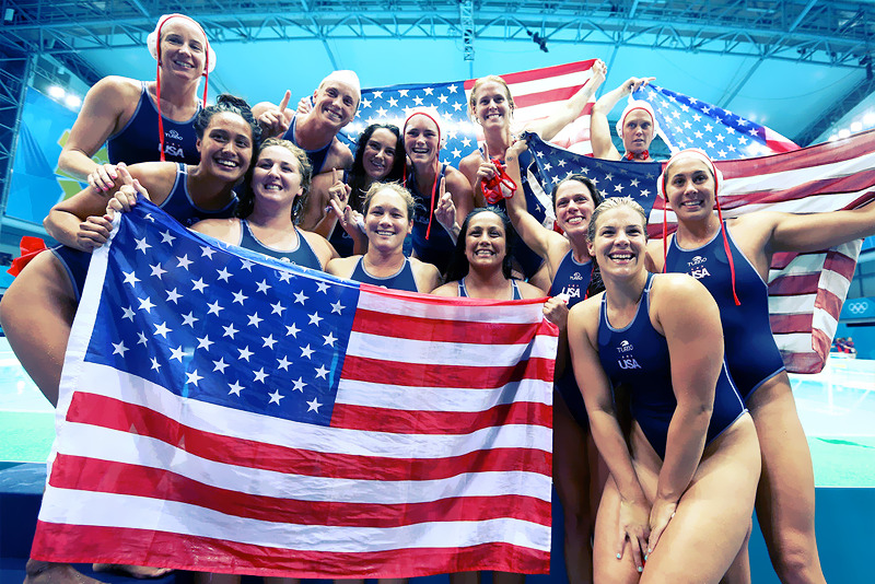 OLYMPICS DAY 13 Having medaled in every Olympic but never gold, US Women's Water Polo defeats Spain 8-5 to bring home their first Olympic gold