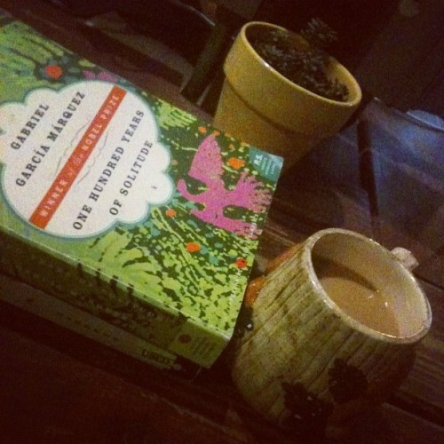 last night of lady week with @megislegend 😔 #coffee #bookporn  (Taken with Instagram at Epoch Coffee)