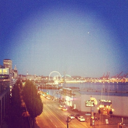 And the sun sets on #Seattle (Taken with Instagram)