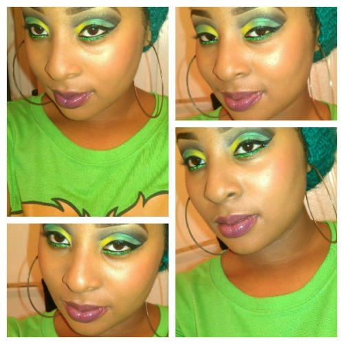 makeupftw:  Theme Post : Jamaican Flag Colors :-) www.CreativeLids.tumblr.com