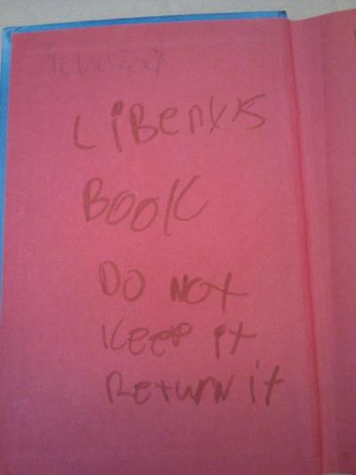 "A book returned to the NYPL's New Dorp branch. They say: ""Good intentions… Bad execution."""