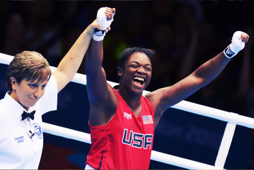 olympicsusa:  OLYMPICS DAY 13 Claressa Shields becomes the first female boxer to win a gold medal for USA in women's Olympic boxing Photo by Alberto Pizzoli