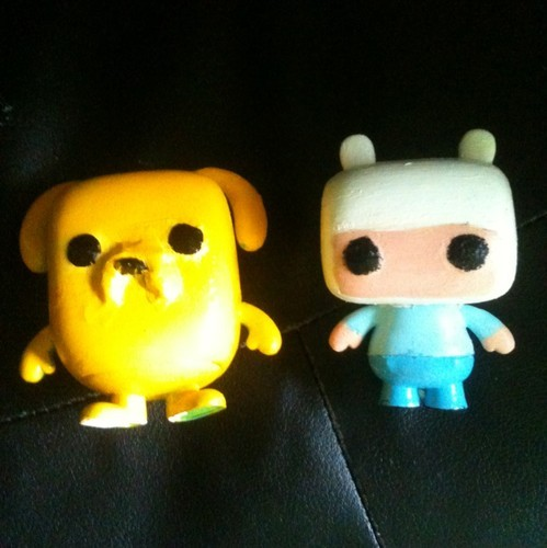 Custom Adventure Time Funko POP vinyl-styled figures I found on ebay. The good news is Funko is actually releasing Adventure Time POP vinyl figures!