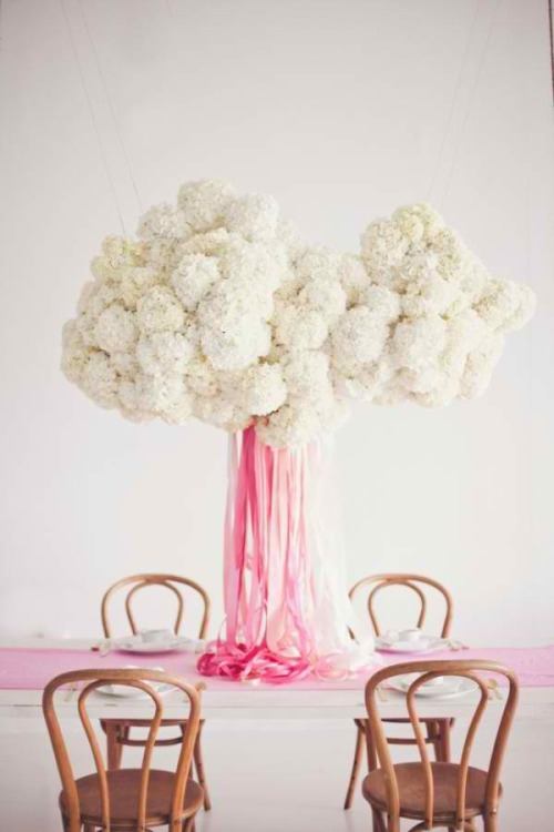 This centerpiece will be a part of my future. fuckyeahweddingideas:  Definitely the most amazing hanging centerpiece I've seen so far.