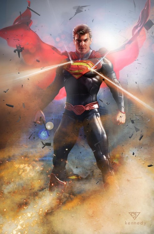 comicsforever:  Superman: Power! // artwork by Sam Kennedy (2012)