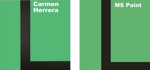Carmen Herrera VS. MS Paint #3