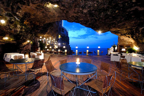 sea cave restaurant, southern italy via: blueverticalstudio cabbagerose: …alright, who would like to make my dream come true…