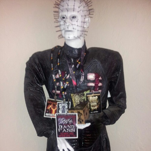 Pinhead repping all my tour and festival passes in the past year,been doing more than i recognized lately .Not a bad thing:) (Taken with Instagram)