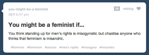 I just want to know, what rights specifically the MRA's are trying to fight for.
